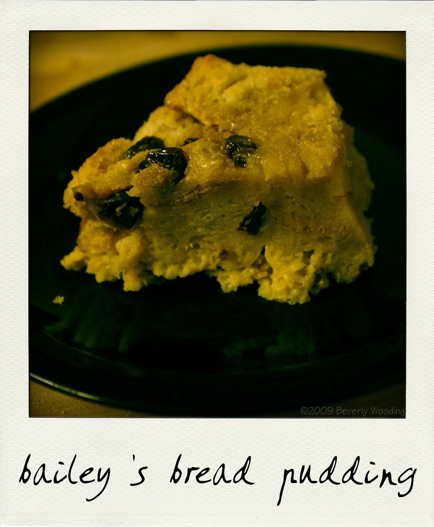 Bailey's bread pudding