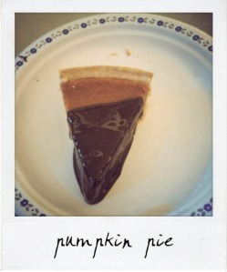 chocolate dipped pumpkin pie