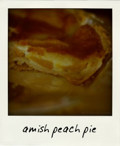 Amish peach pie