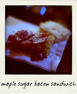maple sugar bacon sandwich