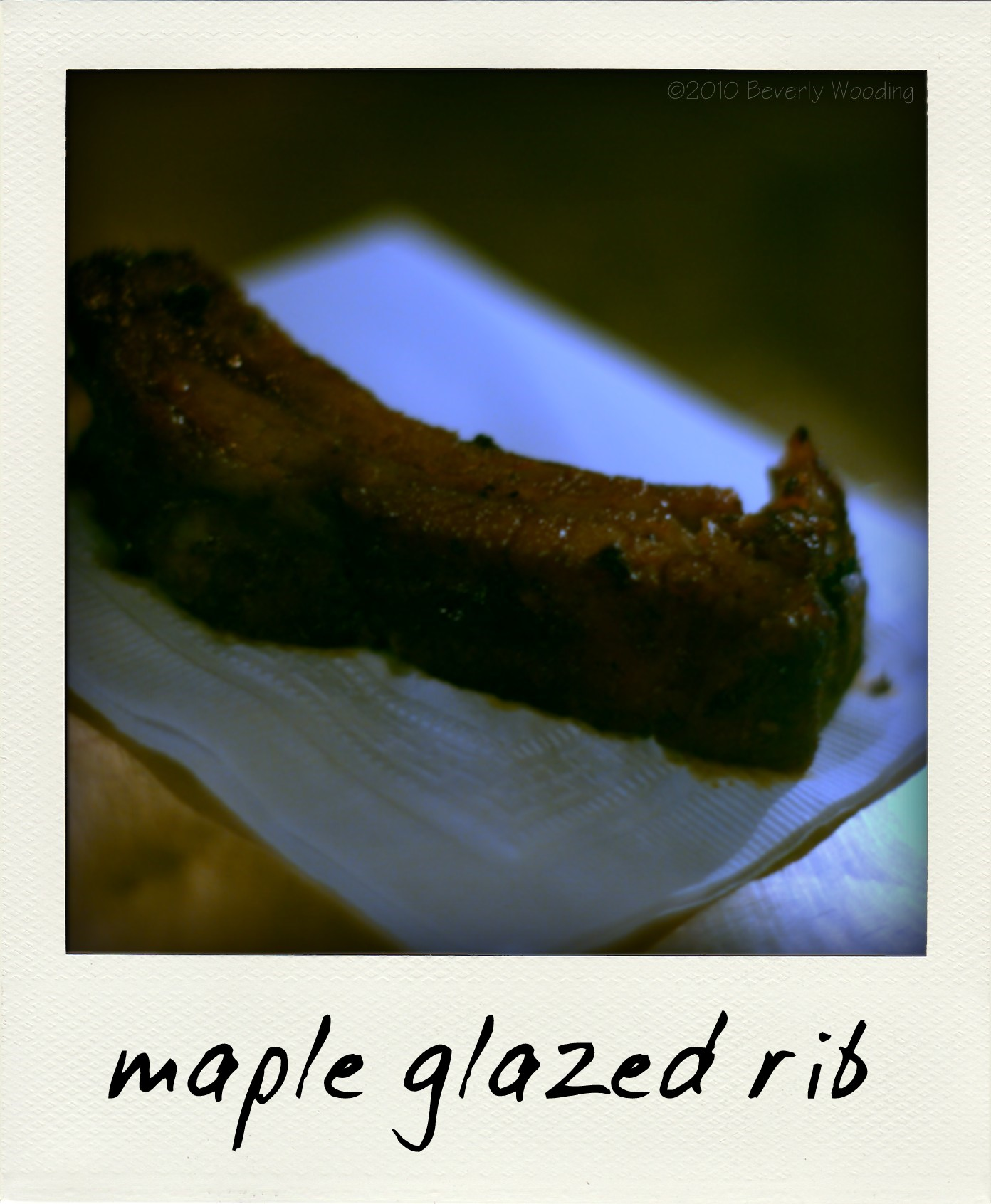 maple glazed rib