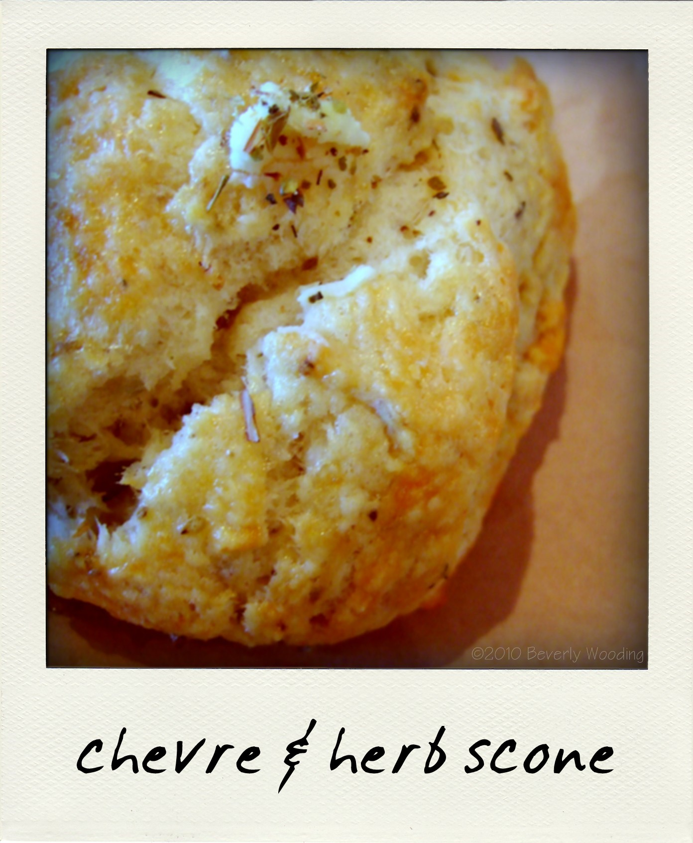 chevre herb scone