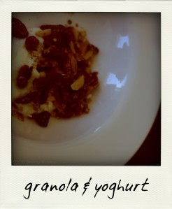granola & yoghurt