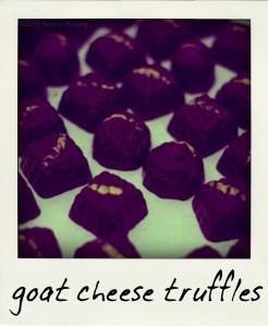 goat cheese truffles
