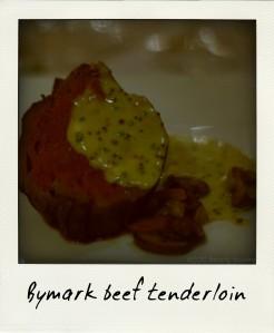 Bymark's beef tenderloin