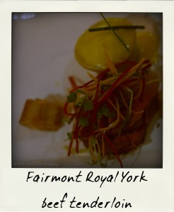 Fairmont Royal York's beef tenderloin